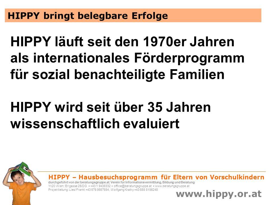 HIPPY wird seit über 35 Jahren wissenschaftlich evaluiert