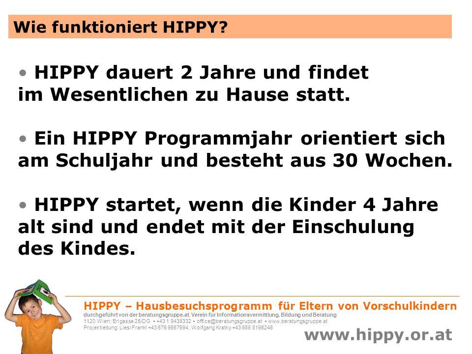 HIPPY dauert 2 Jahre und findet im Wesentlichen zu Hause statt.