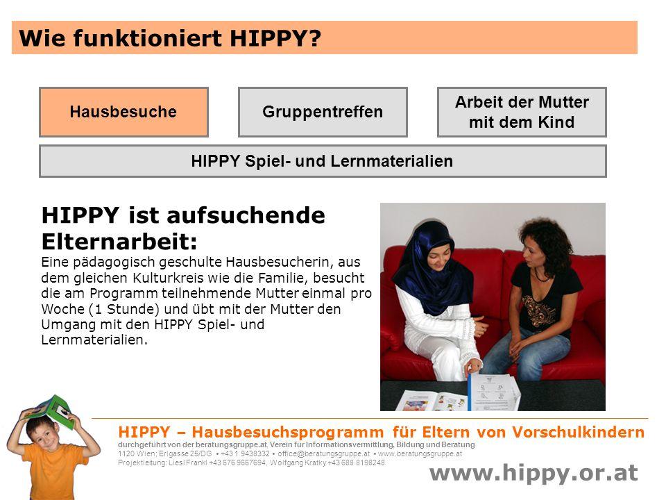 Arbeit der Mutter mit dem Kind HIPPY Spiel- und Lernmaterialien