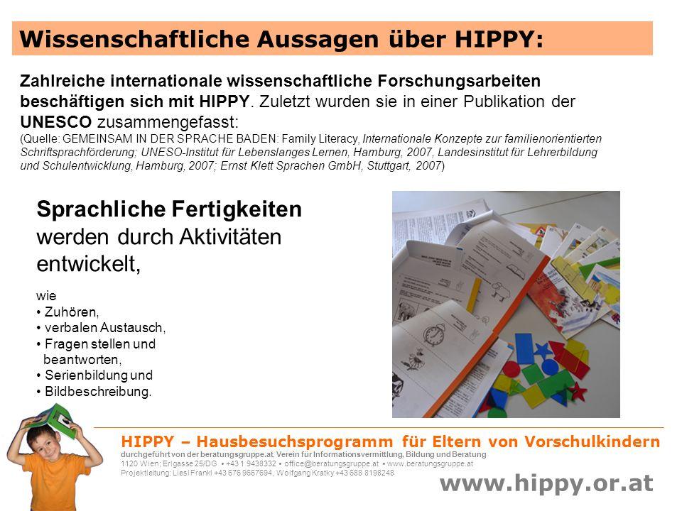 Wissenschaftliche Aussagen über HIPPY:
