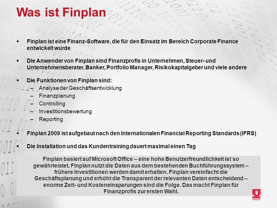 Was ist Finplan Finplan ist eine Finanz-Software, die für den Einsatz im Bereich Corporate Finance entwickelt wurde.