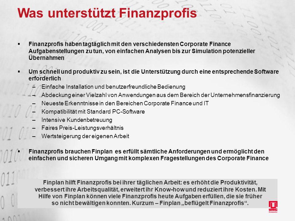 Was unterstützt Finanzprofis