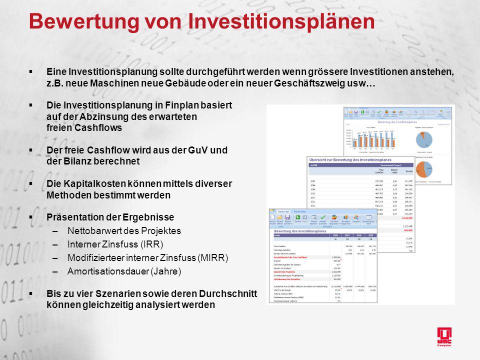 Bewertung von Investitionsplänen
