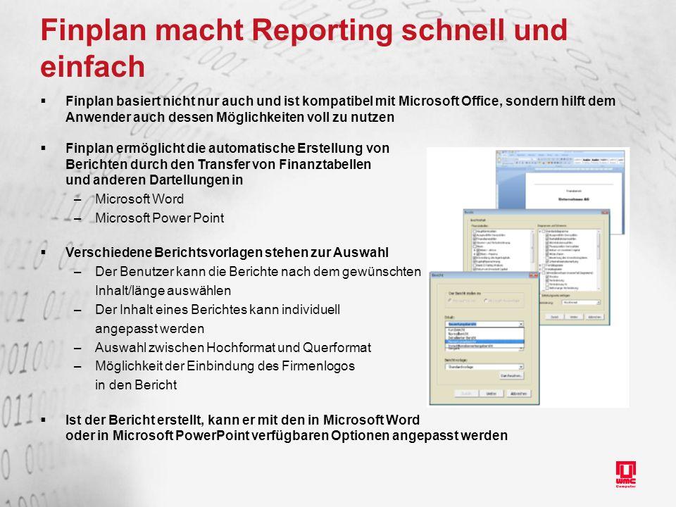 Finplan macht Reporting schnell und einfach