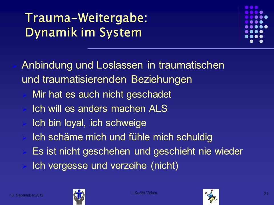 Trauma-Weitergabe: Dynamik im System