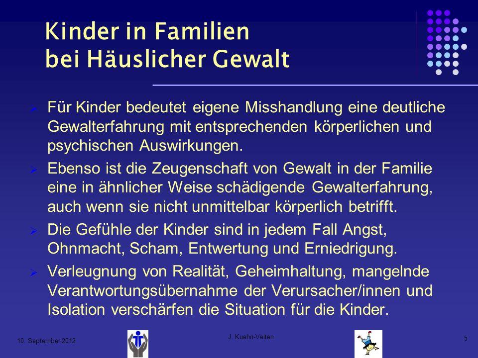 Kinder in Familien bei Häuslicher Gewalt