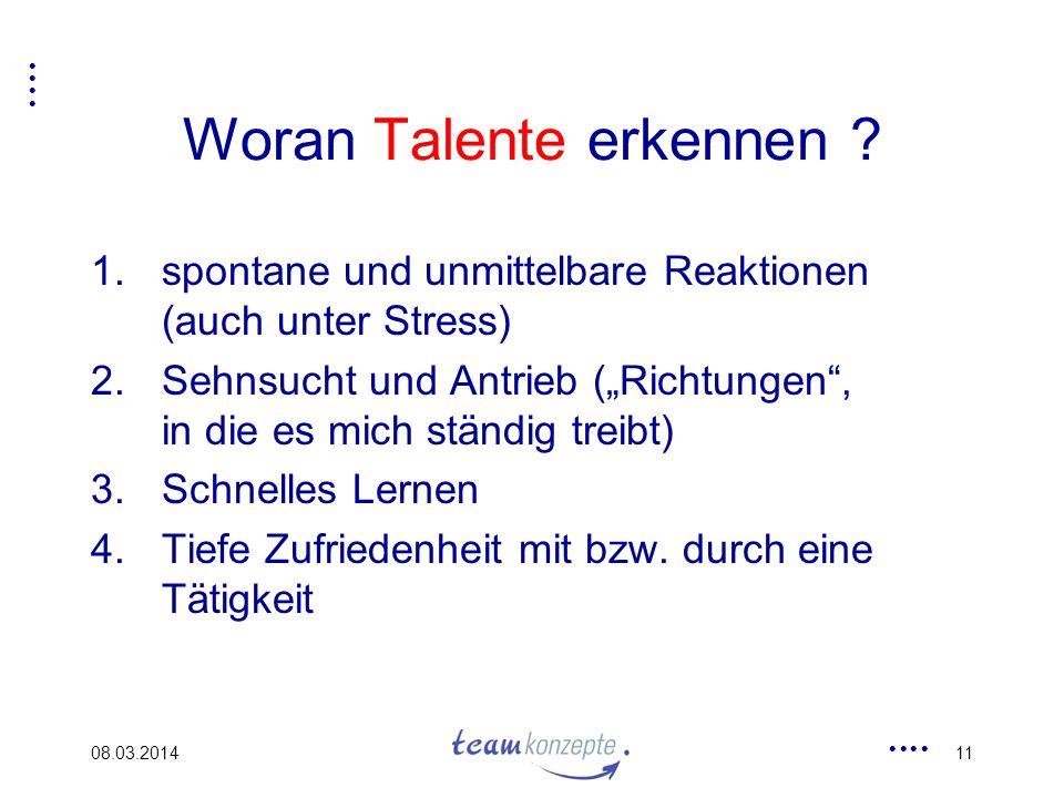 Woran Talente erkennen
