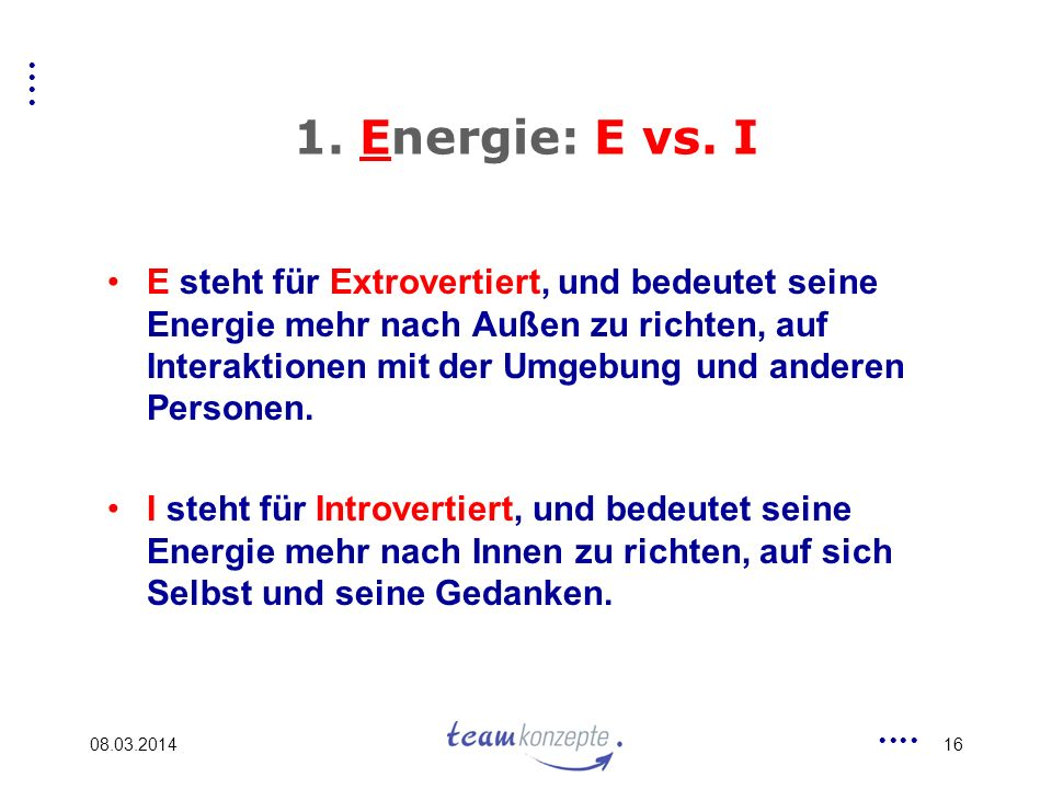 1. Energie: E vs. I