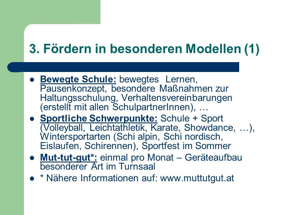 3. Fördern in besonderen Modellen (1)