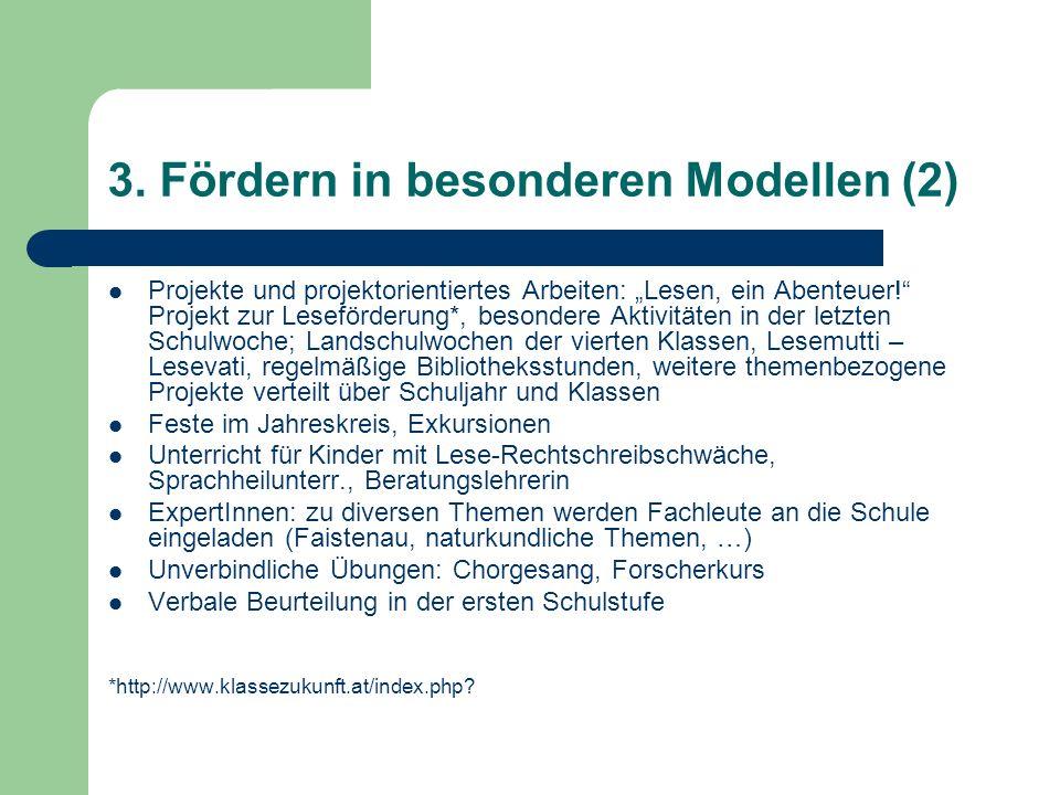 3. Fördern in besonderen Modellen (2)