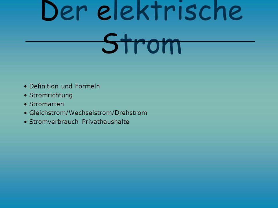 Der Stromkreis Der Elektrische Strom Florian Schmidt