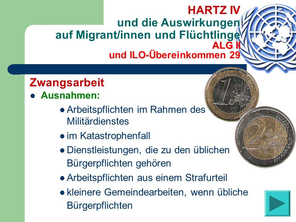 HARTZ IV und die Auswirkungen auf Migrant/innen und Flüchtlinge