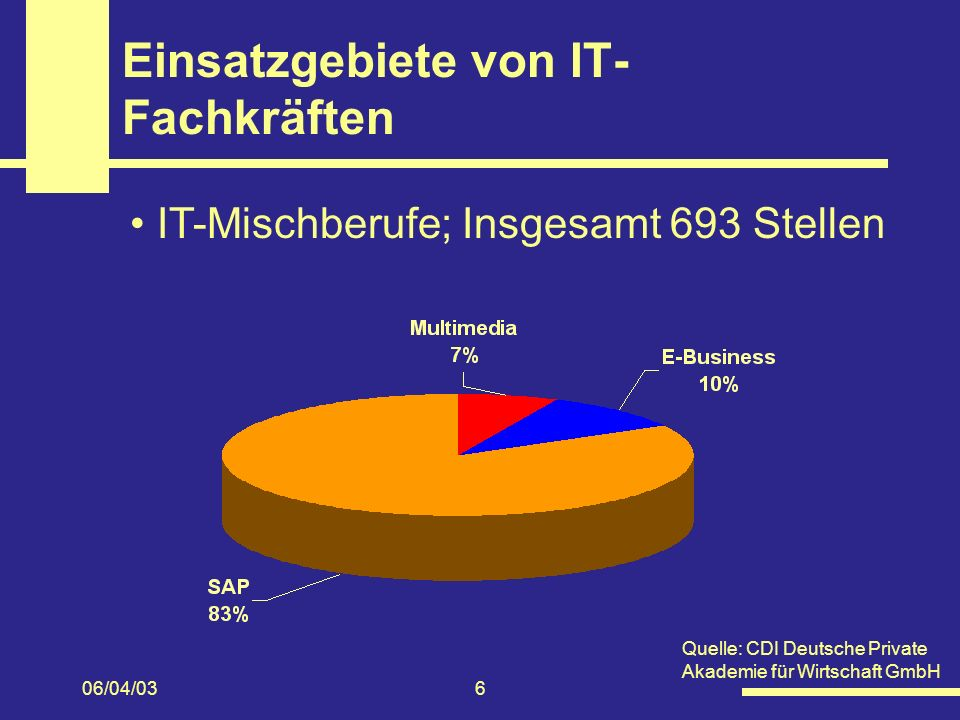 Einsatzgebiete von IT-Fachkräften