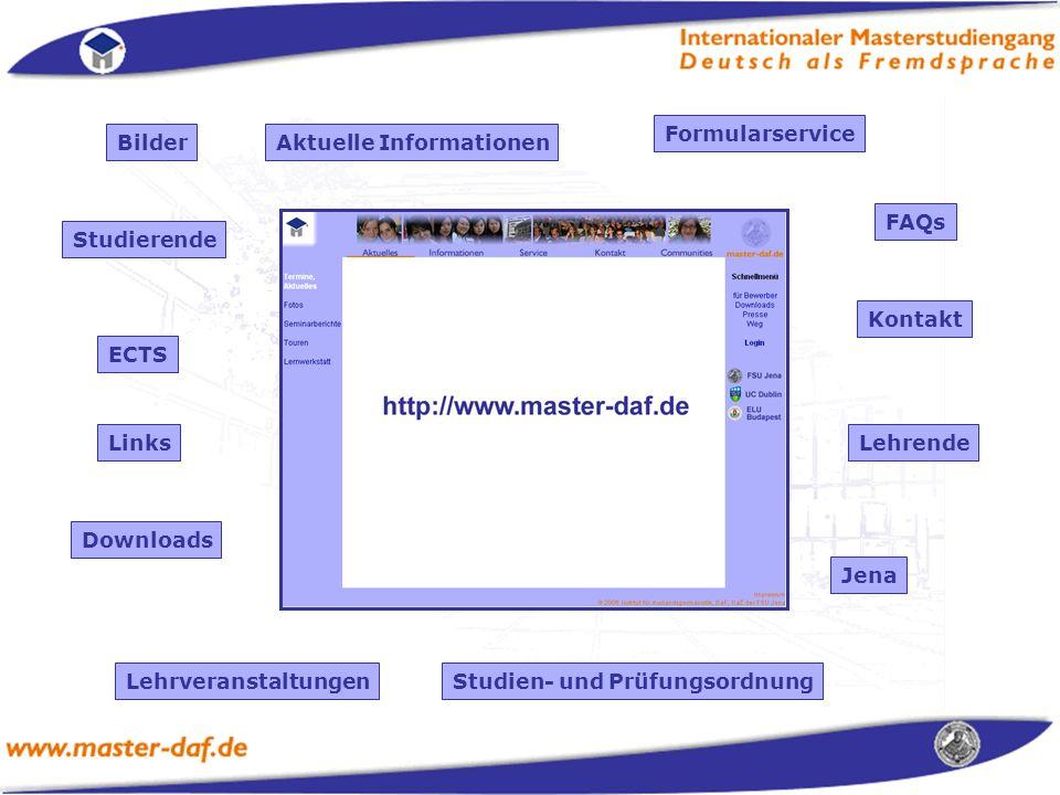 Formularservice Bilder. Aktuelle Informationen. FAQs. Studierende. Kontakt. ECTS. Links. Lehrende.