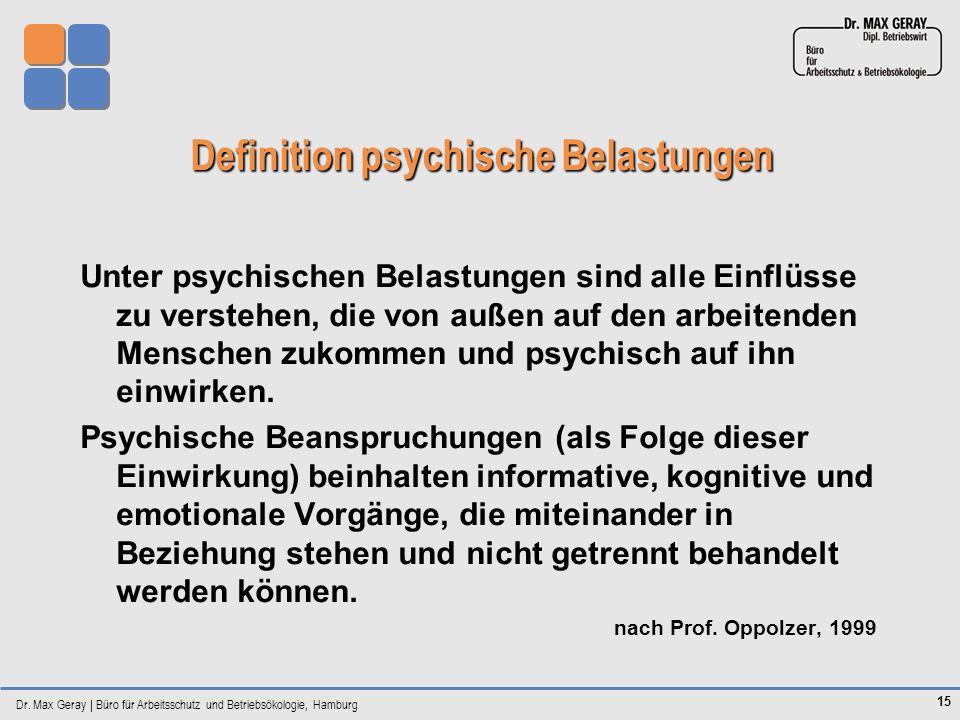 Definition psychische Belastungen