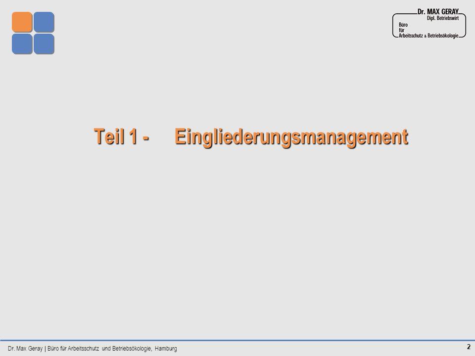 Teil 1 - Eingliederungsmanagement