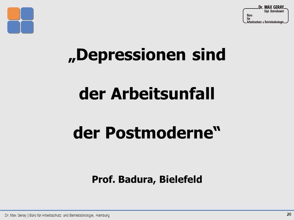 """""""Depressionen sind der Arbeitsunfall der Postmoderne"""