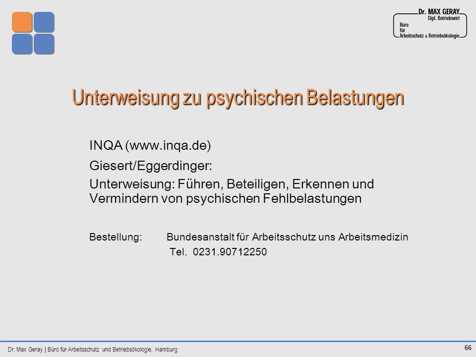 Unterweisung zu psychischen Belastungen