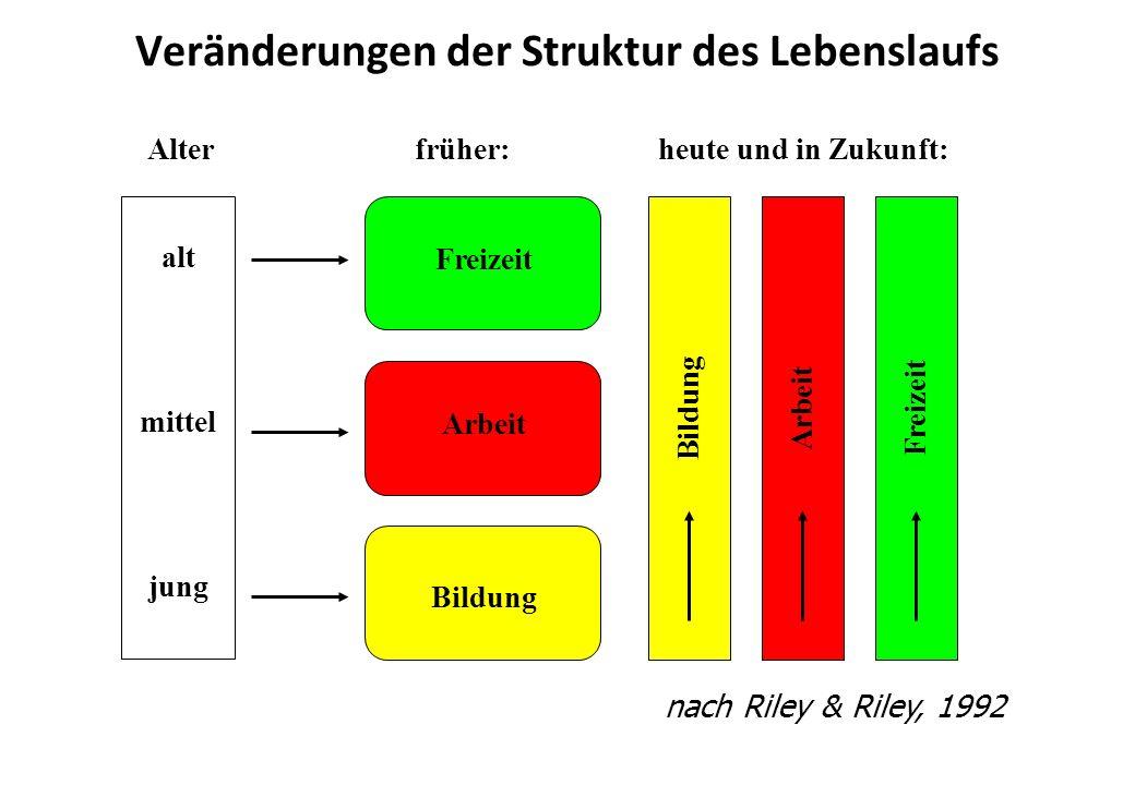 Veränderungen der Struktur des Lebenslaufs