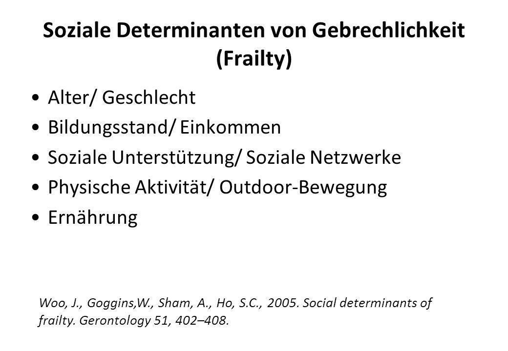 Soziale Determinanten von Gebrechlichkeit (Frailty)