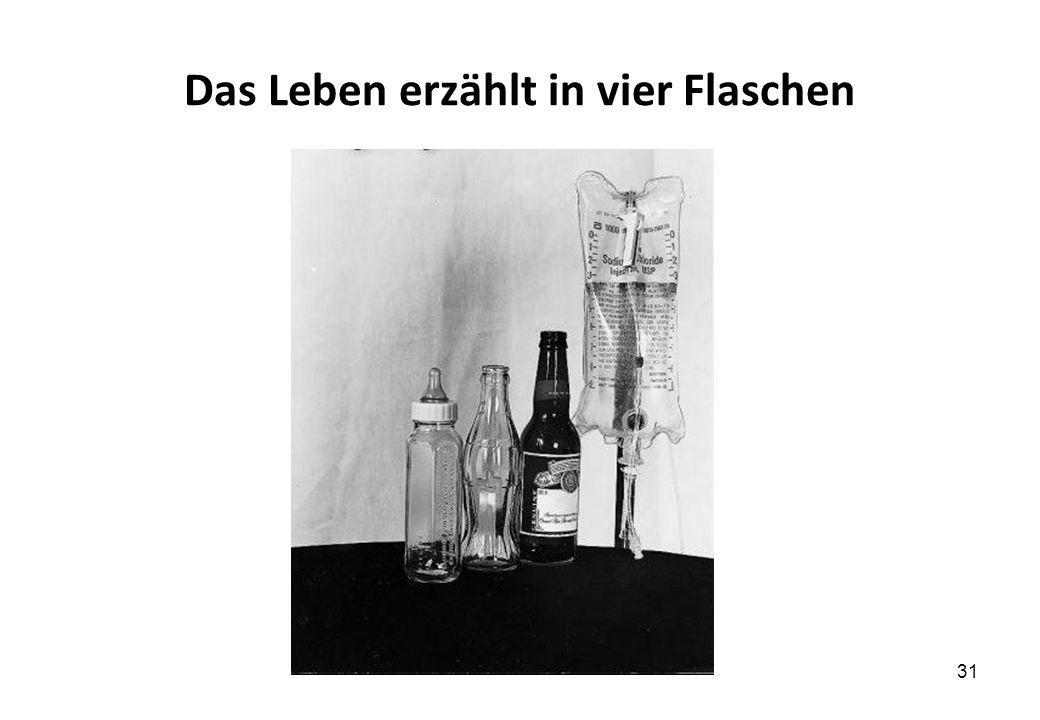 Das Leben erzählt in vier Flaschen