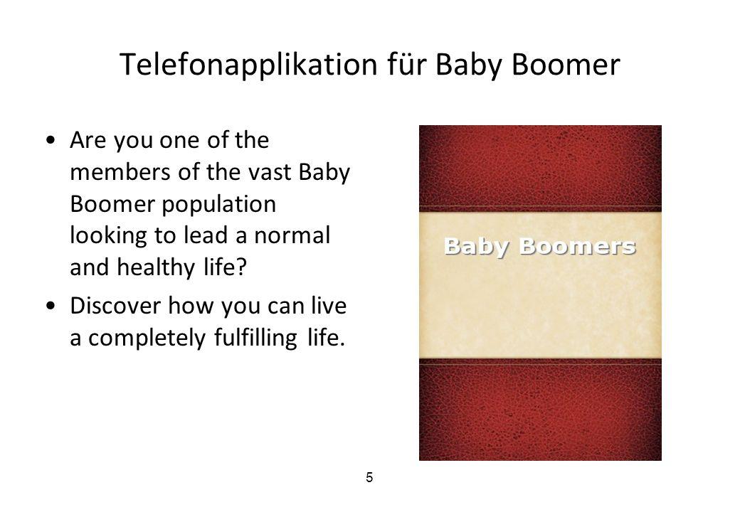 Telefonapplikation für Baby Boomer