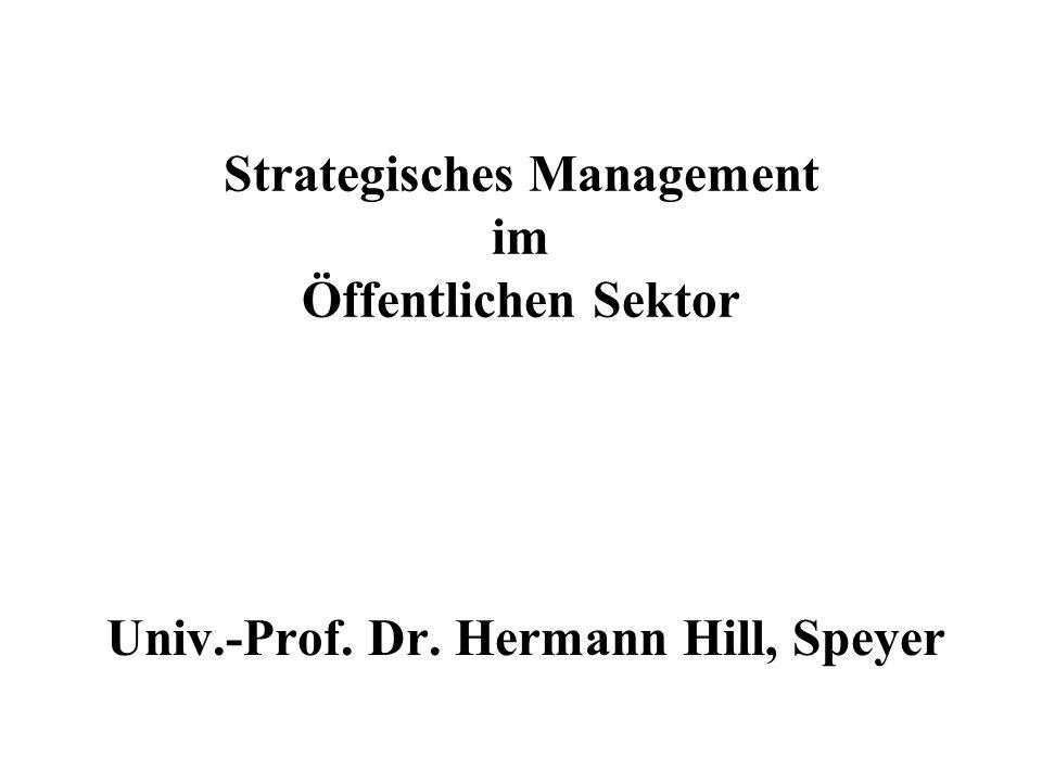 Strategisches Management im Öffentlichen Sektor