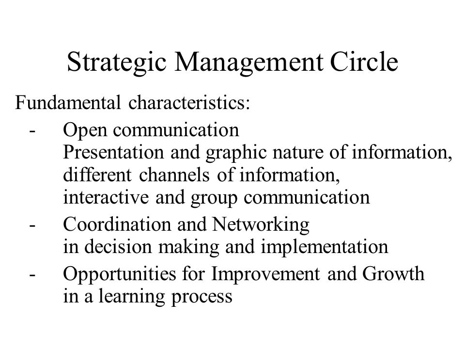 Strategic Management Circle