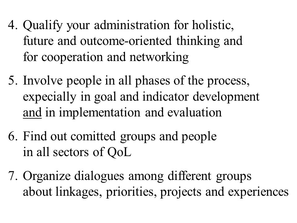 Qualify your administration for holistic, future and outcome-oriented thinking and for cooperation and networking