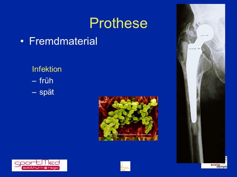 Fremdmaterial Infektion früh spät