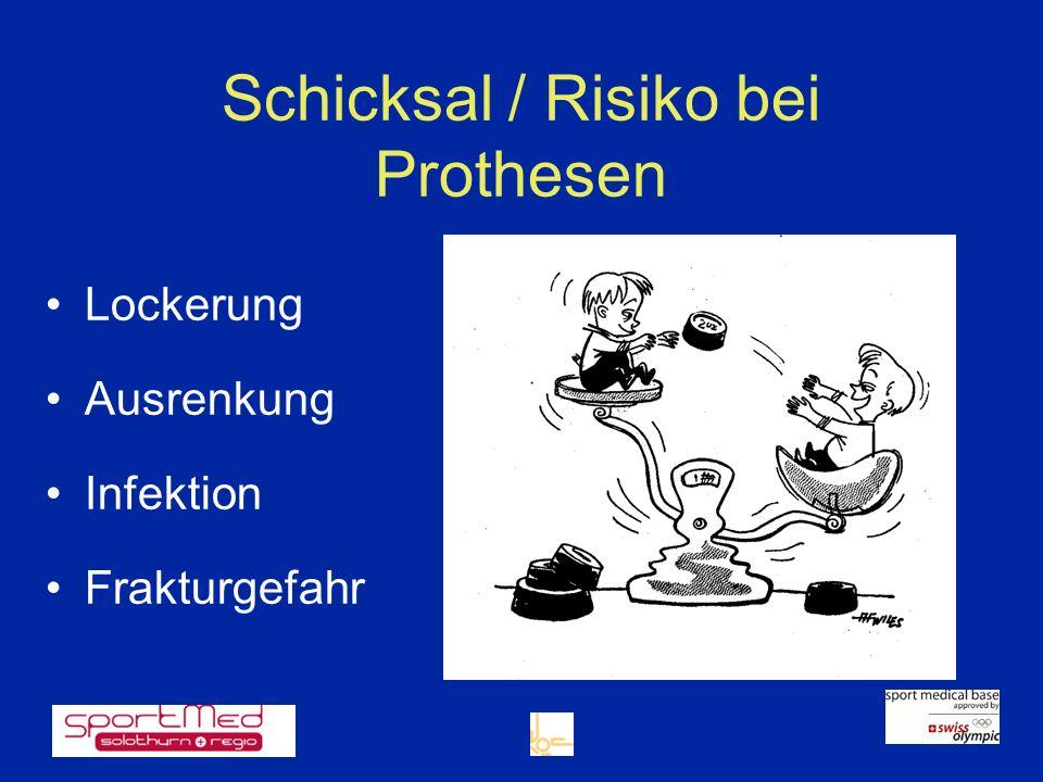 Schicksal / Risiko bei Prothesen