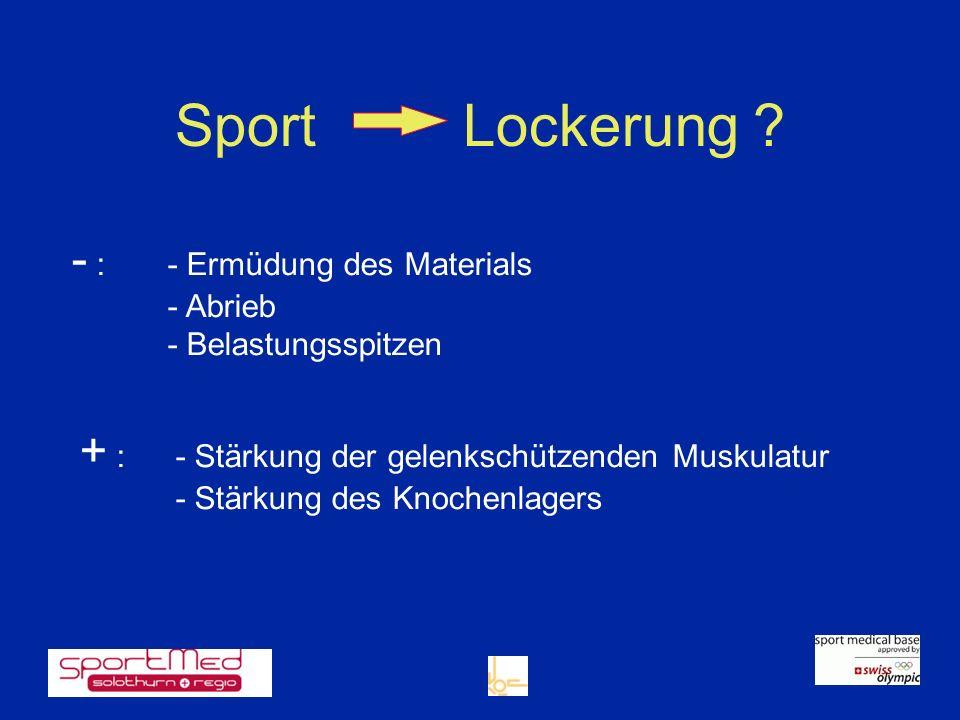 Sport Lockerung - : - Ermüdung des Materials