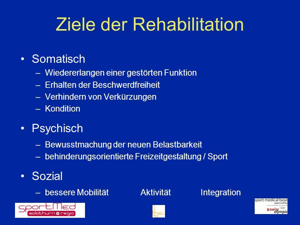 Ziele der Rehabilitation