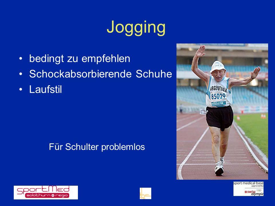 bedingt zu empfehlen Schockabsorbierende Schuhe Laufstil