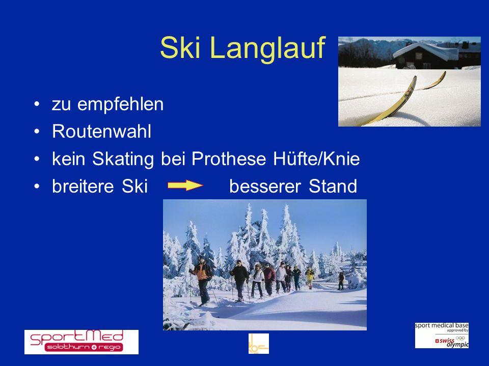 Ski Langlauf zu empfehlen Routenwahl