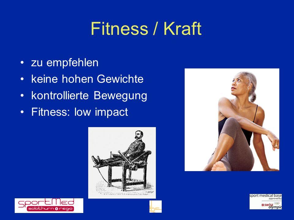 Fitness / Kraft zu empfehlen keine hohen Gewichte
