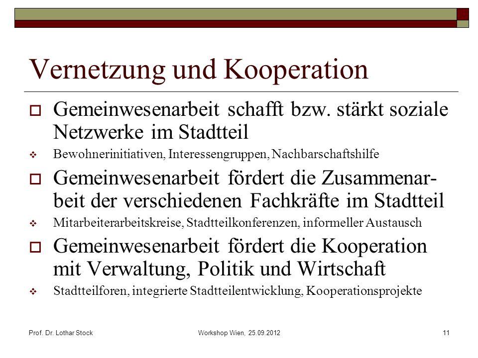 Vernetzung und Kooperation