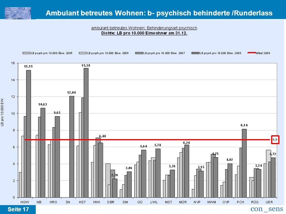 Ambulant betreutes Wohnen: b- psychisch behinderte /Runderlass M-V