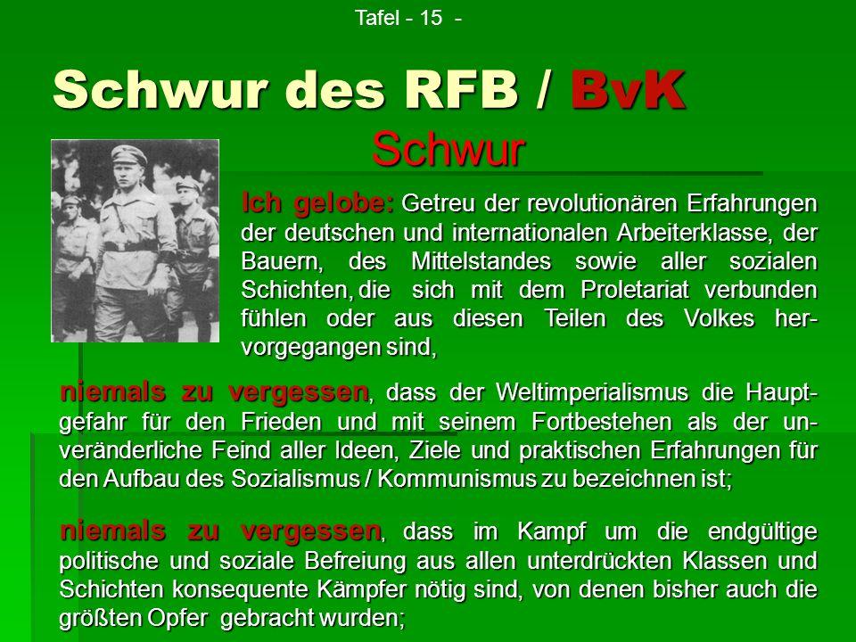 Schwur des RFB / BvK Schwur