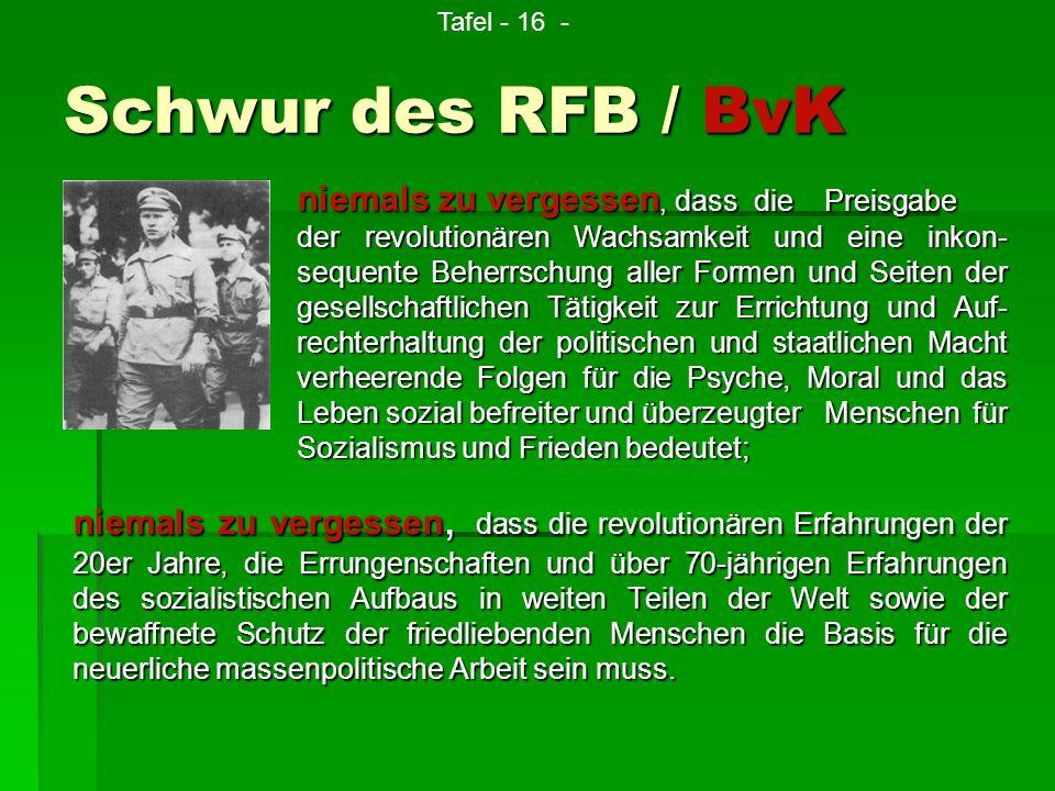Tafel - 16 - Schwur des RFB / BvK.