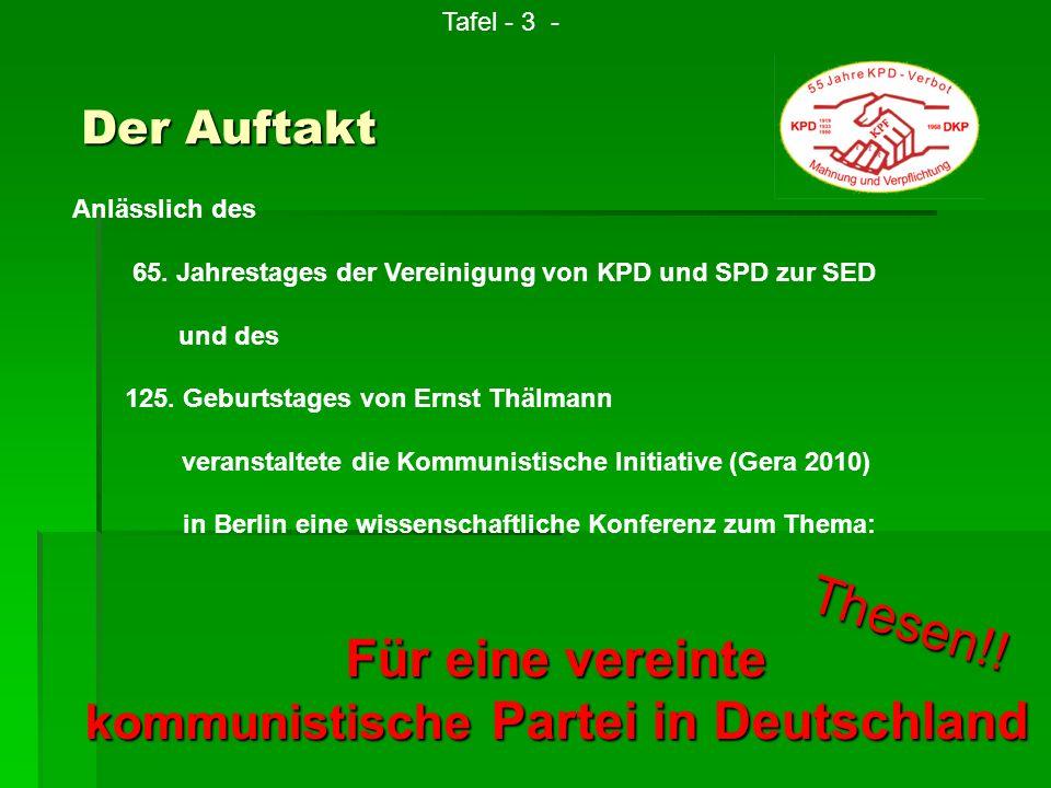kommunistische Partei in Deutschland