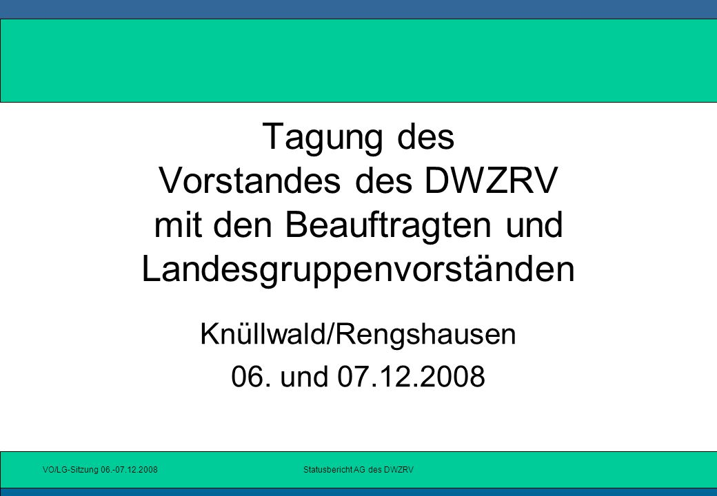 Knüllwald/Rengshausen 06. und 07.12.2008