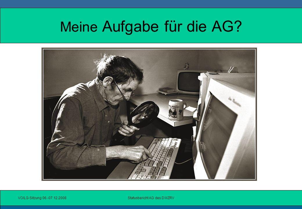 Meine Aufgabe für die AG
