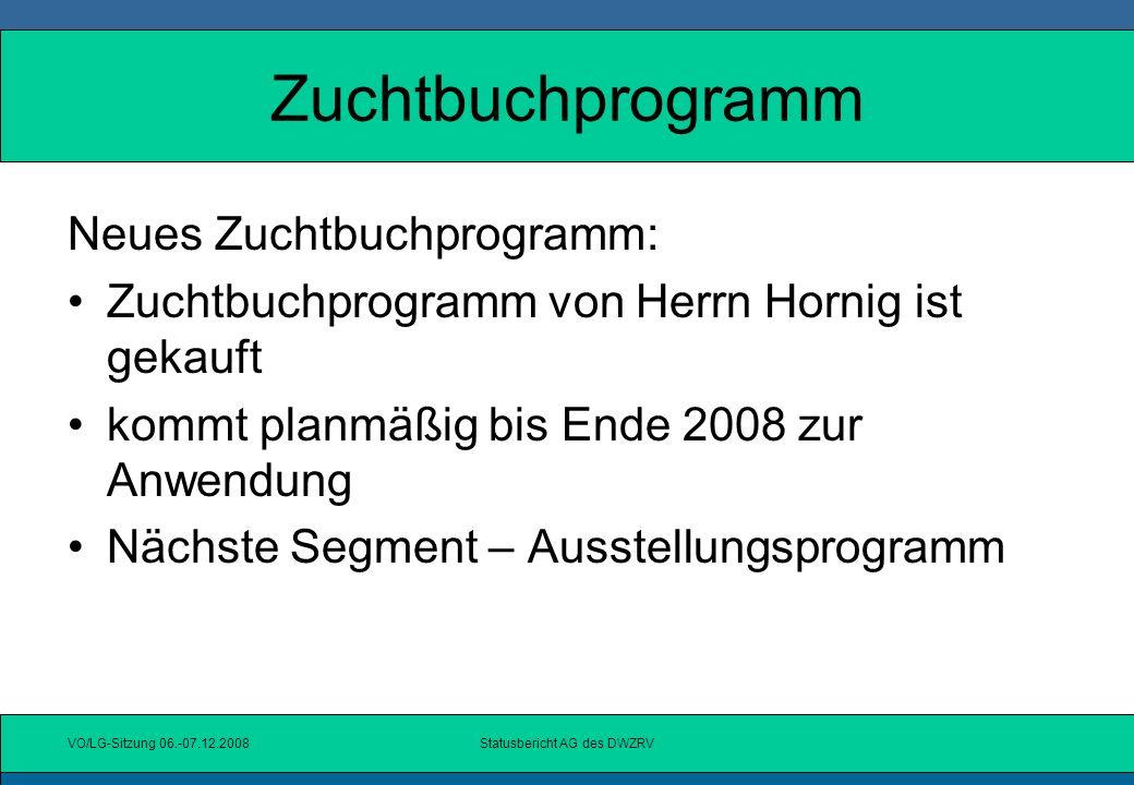 Statusbericht AG des DWZRV