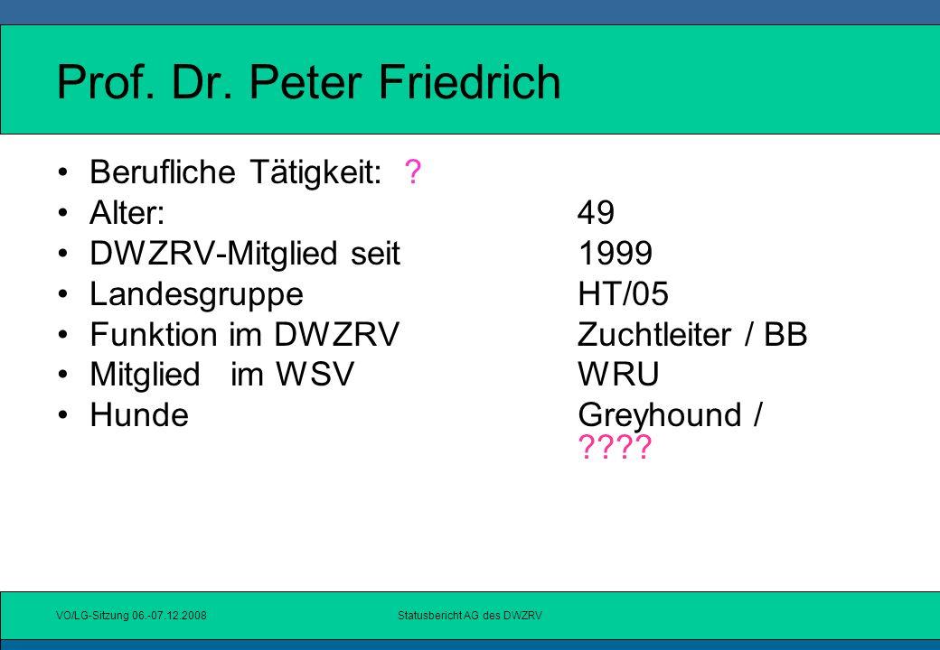Prof. Dr. Peter Friedrich