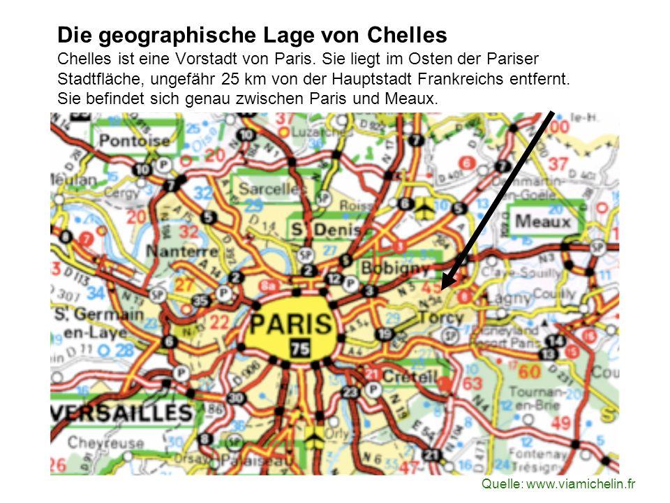 Die geographische Lage von Chelles Chelles ist eine Vorstadt von Paris