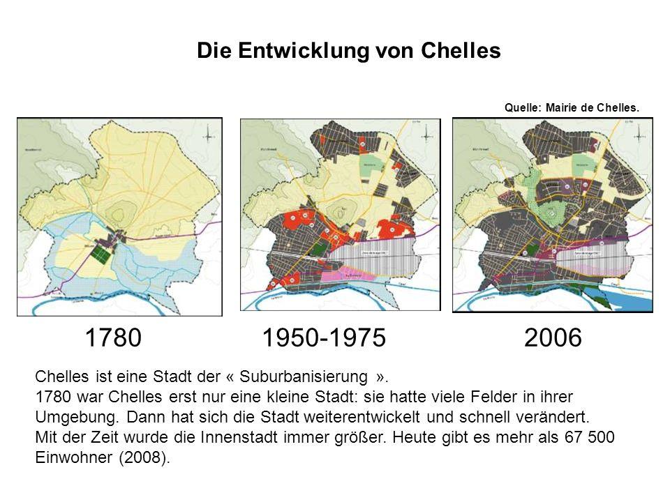 Die Entwicklung von Chelles Quelle: Mairie de Chelles.