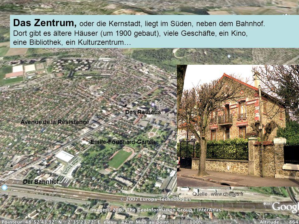 Das Zentrum, oder die Kernstadt, liegt im Süden, neben dem Bahnhof.