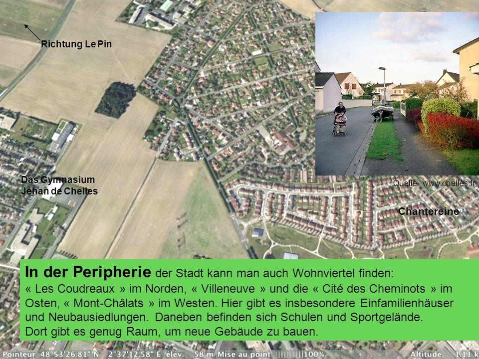 In der Peripherie der Stadt kann man auch Wohnviertel finden: