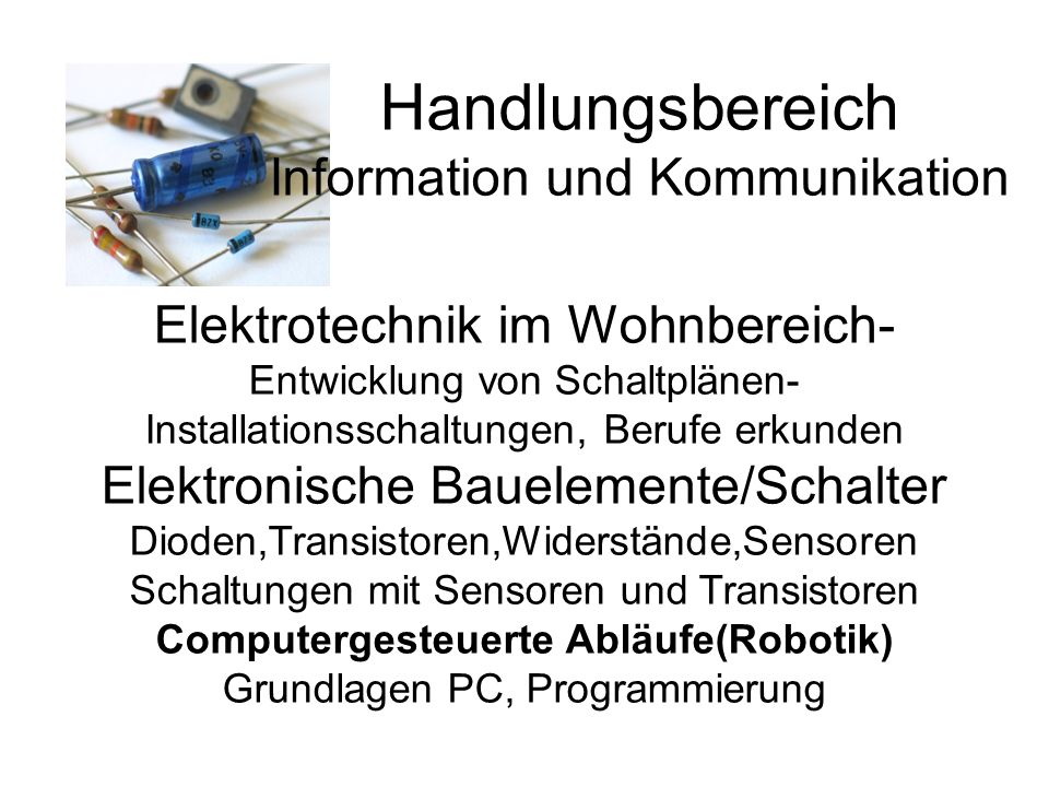 Handlungsbereich Information und Kommunikation
